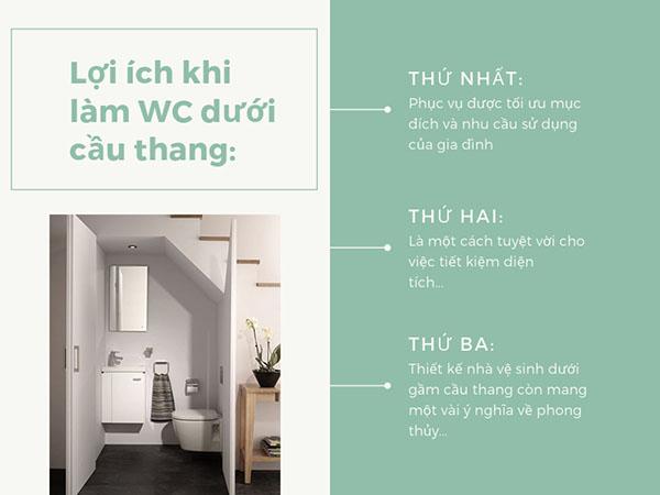 Nhà vệ sinh dưới câu thang